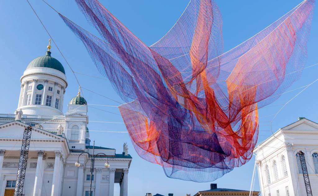 Artwork by Janet Echelmen in Helsinki