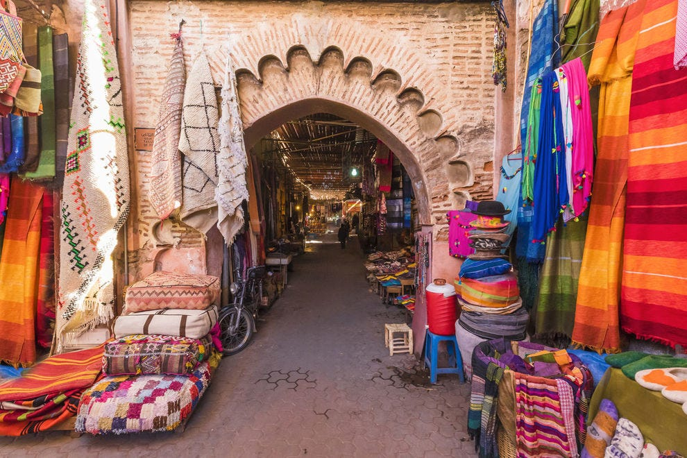 An archway in Marrakesh