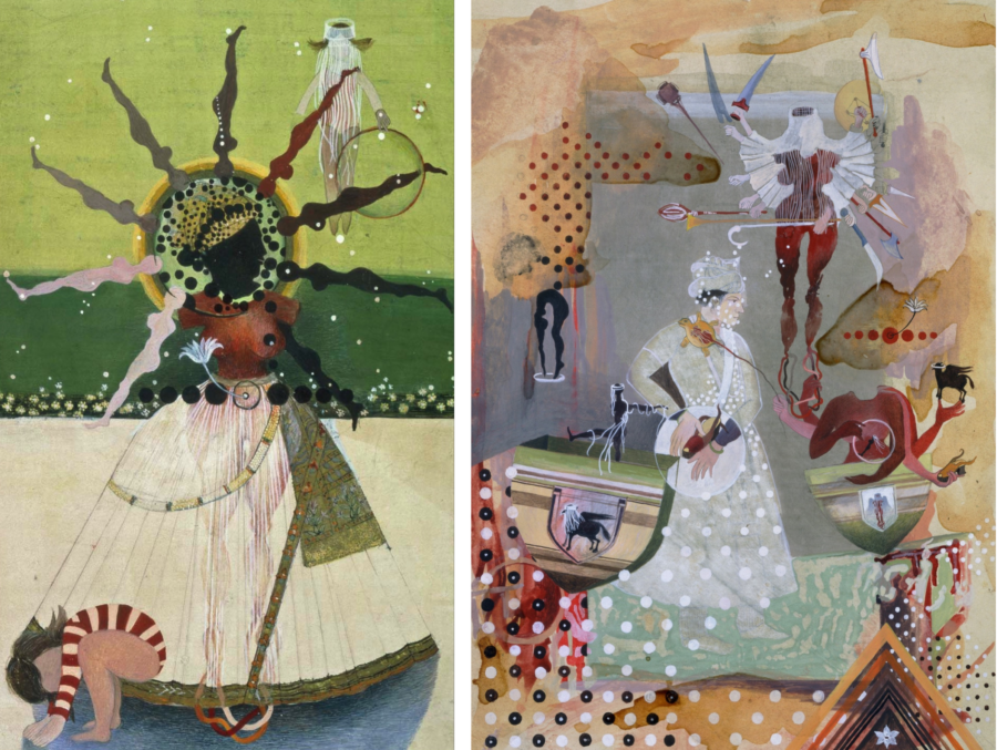 Two artworks by Shahzia Sikander