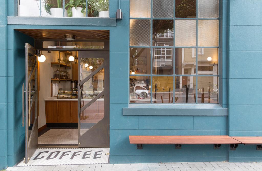 Exterior shot of Sightglass Coffee shop